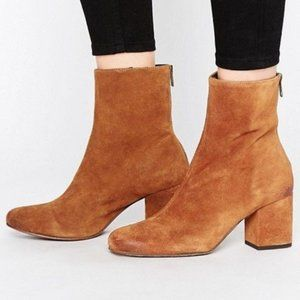 NEW Free People Cecile Ankle Boot Brown Suede Leather 40.5